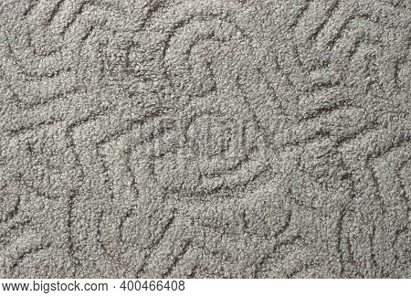 Thick Gray Carpet For The Home, Background Image.