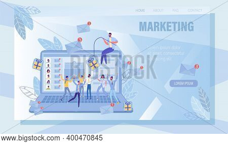 Digital Email Phishing Online Service For Mass Emailing Marketing And Spamming. Landing Page With Ma