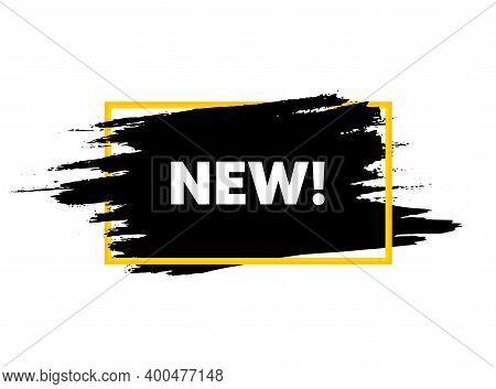 New Symbol. Paint Brush Stroke In Frame. Special Offer Sign. New Arrival. Paint Brush Ink Splash Ban