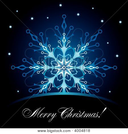Christmas Card With Snowflake