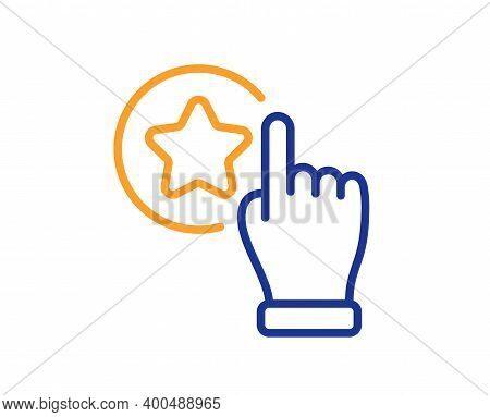 Rate Button Line Icon. Best Ranking Sign. Rating Symbol. Quality Design Element. Line Style Rate But