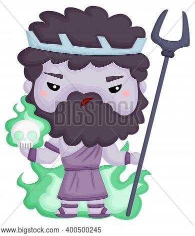 A Vector Of Hades The God Of The Dead