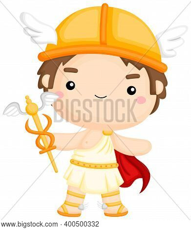 A Vector Of The Greek God Hermes