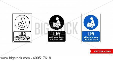 Construction Mandatory Sign Lift Icon Of 3 Types Color, Black And White, Outline. Isolated Vector Si