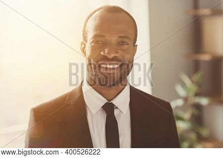 Close-up Portrait Of His He Nice Attractive Trendy Classy Cheerful Bearded Guy Director Partner Bank