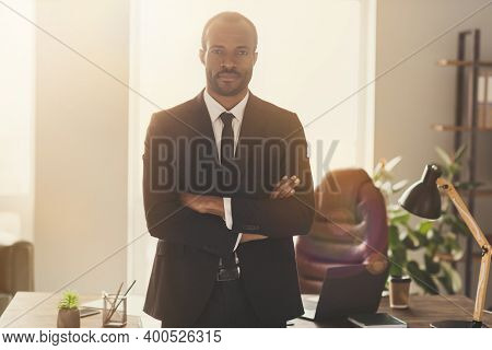 Portrait Of His He Nice Attractive Classy Trendy Content Skilled Experienced Professional Top Bearde