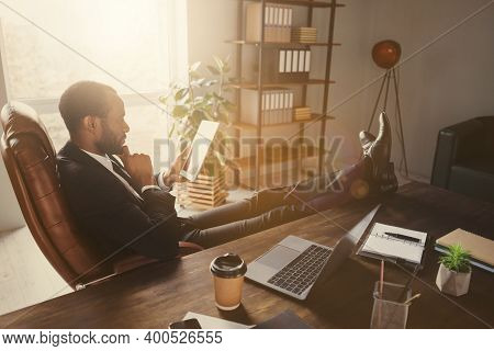 Profile Side View Portrait Of His He Nice Attractive Classy Focused Guy Economist Accountant Financi