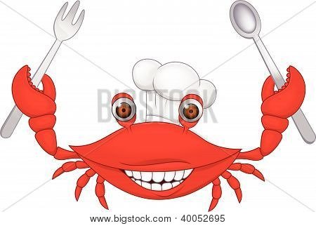 Crab chef cartoon