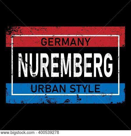 N Rnberg Vector Lettering In German, Its German Name Of Nuremberg. German Lettering. German City Nam