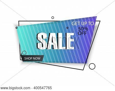 Vector Banner. Mega Sale Tag, -50% Discount, Special Limited Offer. Super, Mega Deal. Template, Mode