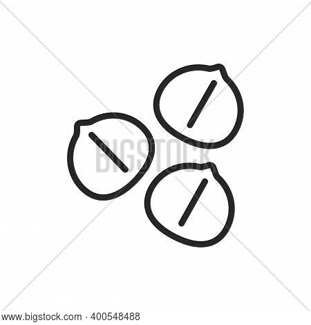 Chickpea Black Line Icon. Isolated Vector Element. Outline Pictogram For Web Page, Mobile App, Promo