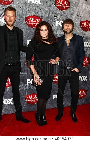 LOS ANGELES - DEC 10:  Lady Antebellum arrives to the American Country Awards 2012 at Mandalay Bay Resort and Casino on December 10, 2012 in Las Vegas, NV