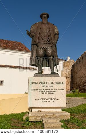 The Statue Of Vasco Da Gama In His Home Town Of Sines