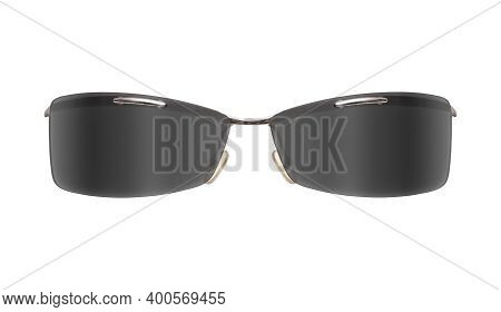 Sunglasses With Colour Glasses Isolated On White Background