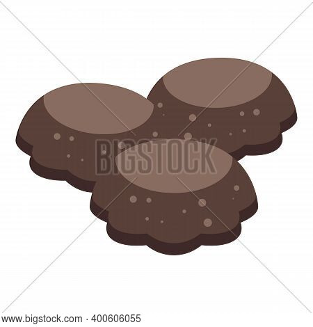 Chocolate Paste Candy Icon. Isometric Of Chocolate Paste Candy Vector Icon For Web Design Isolated O