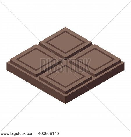 Chocolate Paste Bar Icon. Isometric Of Chocolate Paste Bar Vector Icon For Web Design Isolated On Wh
