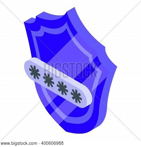 Secured Monetization Icon. Isometric Of Secured Monetization Vector Icon For Web Design Isolated On