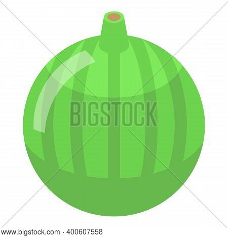 Whole Green Figs Icon. Isometric Of Whole Green Figs Vector Icon For Web Design Isolated On White Ba