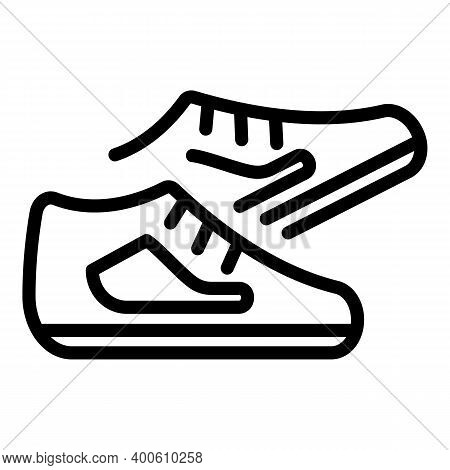 Nordic Walking Shoes Icon. Outline Nordic Walking Shoes Vector Icon For Web Design Isolated On White