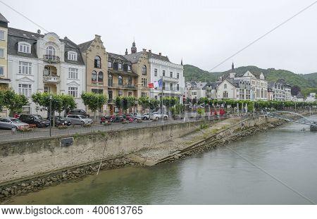 Boppard Located At The Rhine River In The Rhein-hunsrueck-district In Rhineland-palatinate, Germany