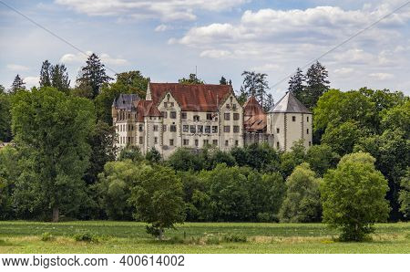 The Burg Jagsthausen Ocated In Southern Germany At Summer Time