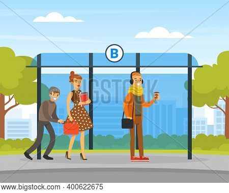 Male Thief Pickpocket Stealing Purse From Woman Handbag At Bus Stop, Burglar Committing Robbery, Cri