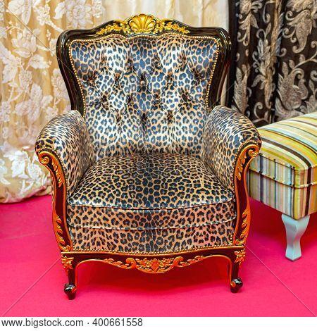 Armchair Animal Print Safari Leopard Kitsch Style