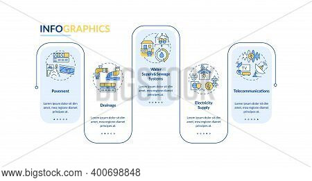 Urban Utility And Facility Vector Infographic Template. Drainage System Presentation Design Elements
