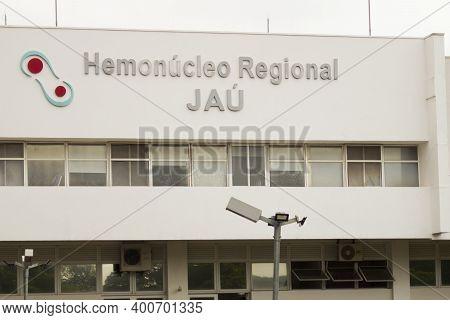 Jau / Sao Paulo / Brazil - 02 21 2020: Facade Of