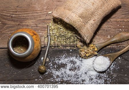 Yerba Mate Infusion, With Grated Coconut And Chamomile, Called Coconut Mate
