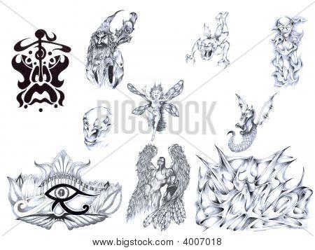 Tattoo Ideas On White Background