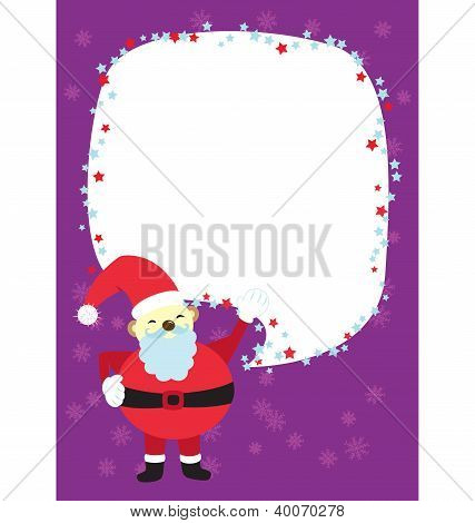 Christmas Santa Clause Template Card