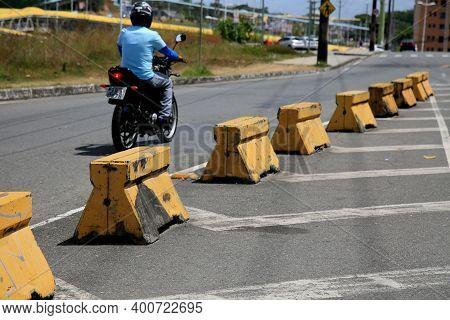 Street Blocked In Salvador