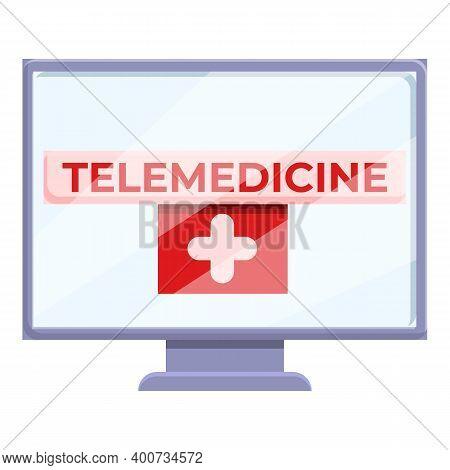 Telemedicine Icon. Cartoon Of Telemedicine Vector Icon For Web Design Isolated On White Background
