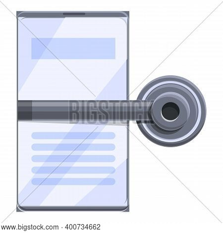 Telemedicine Online Icon. Cartoon Of Telemedicine Online Vector Icon For Web Design Isolated On Whit