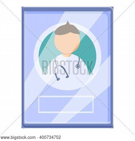 Telemedicine Login Icon. Cartoon Of Telemedicine Login Vector Icon For Web Design Isolated On White