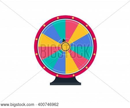 Colorful Wheel Of Luck. Spinning Fortune Wheel, Las Vegas, Prize. Lottery Luck Wheel Of Fortune Desi
