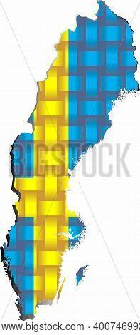 Sweden Map - Illustration,  Three Dimensional Map Of Sweden