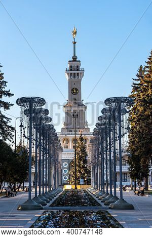 Moscow, Russia - December 12, 2020: The North River Terminal - Passenger Terminal Of River Transport