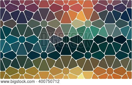 Organic Irregular Rounded Jumble Shapes, Stones. Abstract Geometric Background Design. Vector Color