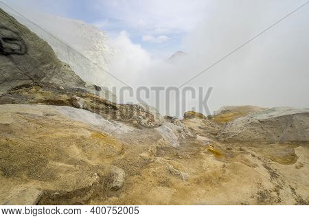 The Slope Of Ijen Volcano In East Java, Indonesia