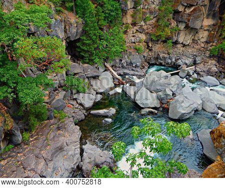 Canyon Of The Rogue - A View Of The Rogue River Canyon - Near Prospect, Or