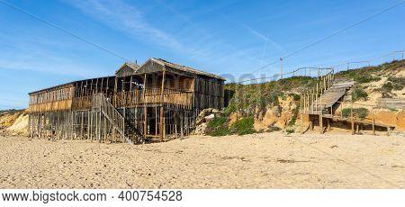 Vila Nova De Milfontes, Portugal: 23 December 2020: View Of The