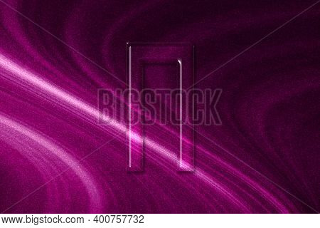 Pi Sign. Pi Letter, Greek Alphabet Symbol, Magenta Background
