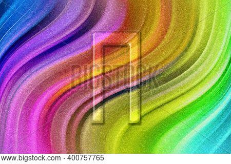 Pi Sign. Pi Letter, Greek Alphabet Symbol, Rainbow Glitter Background