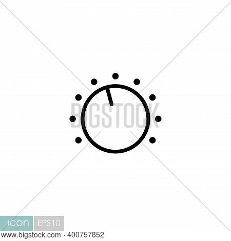 Volume Knob Vector Flat Icon. Music Sign. Graph Symbol For Music And Sound Web Site And Apps Design,