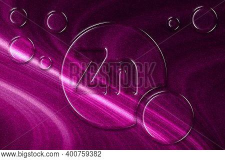 Element Zn Zinc, Mineral Vitamin Complex Dietary Supplement, Magenta Background