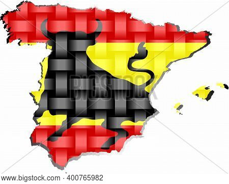 Spain Map - Illustration,  Three Dimensional Map Of Spain