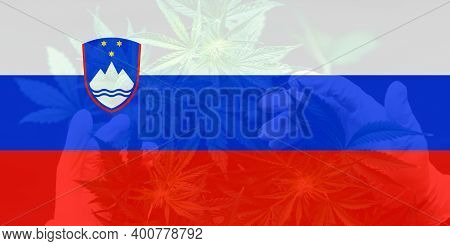 Weed Decriminalization In Slovenia. Cannabis Legalization In The Slovenia. Medical Cannabis In The S
