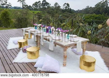 Social Events Reception; Tables Decorated For Events: Parties, Birthdays, Weddings, And Other Events